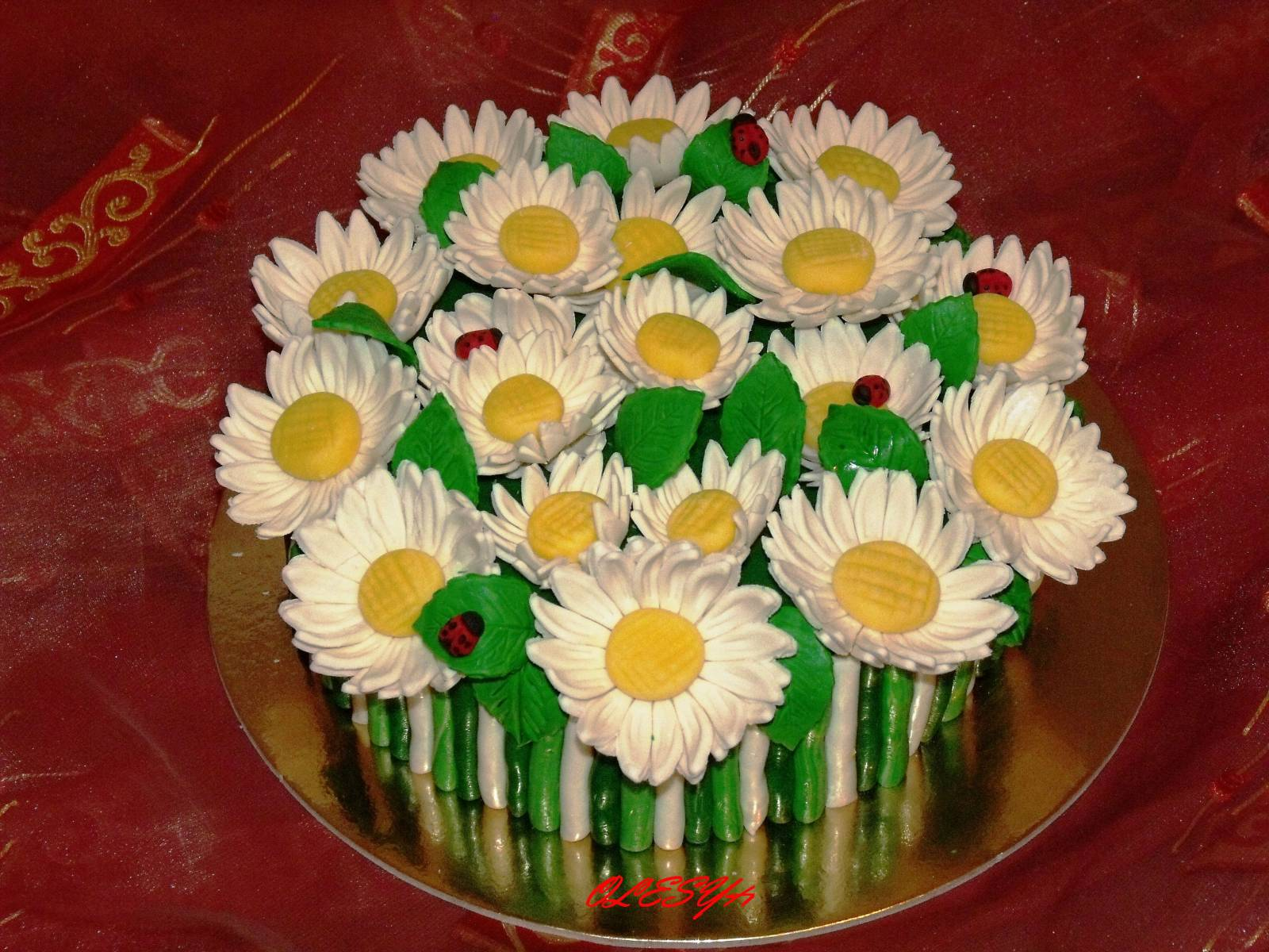 Торт ромашка своими руками 54