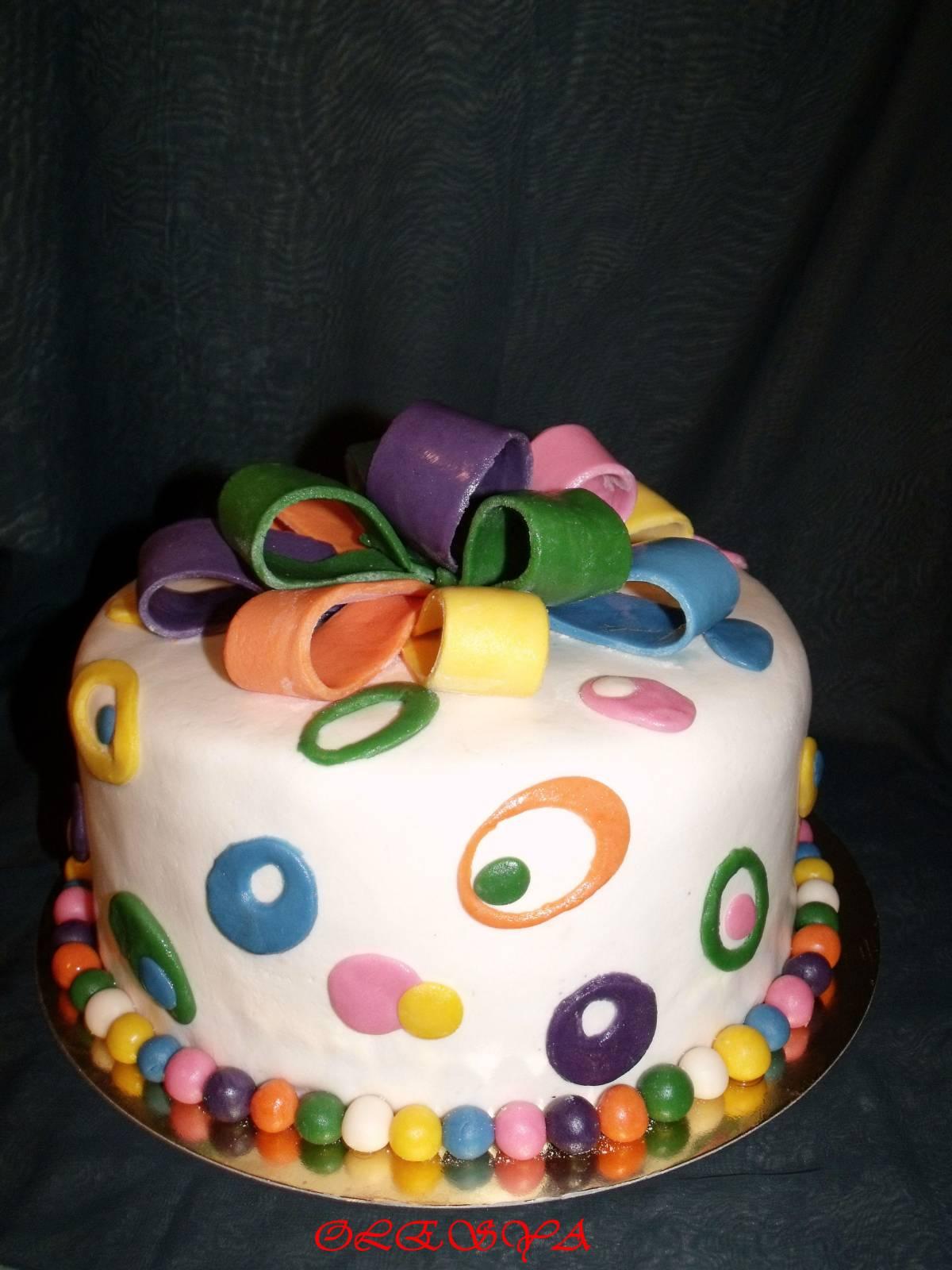 Подарок с тортом фото